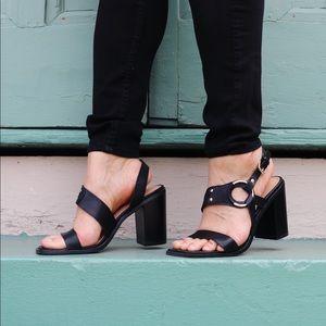 JustFab Block Heeled Sandals